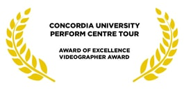 Award for concordia university golden leaves on a white background