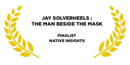 Award for jay silverheels golden leaves on a white background