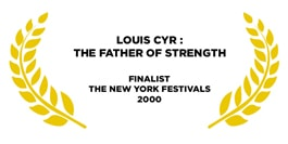 Award for louis cyr golden leaves on a white background