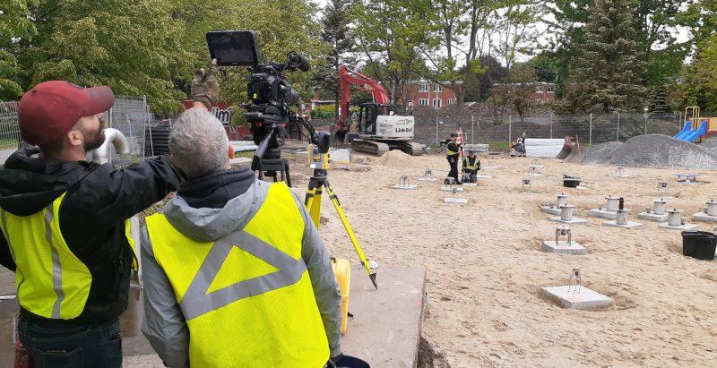 Video production at Vortex construction site.